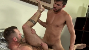 Pride Studios: Hairy Scott DeMarco ass fucked