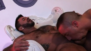 Pride Studio Partners - Hairy being fucked by huge cock daddy