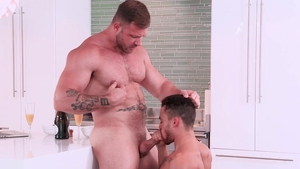 HotHouse - Wet Austin Wolf kissing each other scene