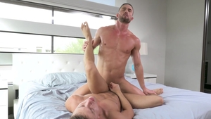 FalconStudios: Hunk Austin Avery electro laughing in the bed