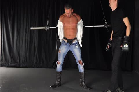 Straight youthful Muscle man Takes brutaly bdsm torture