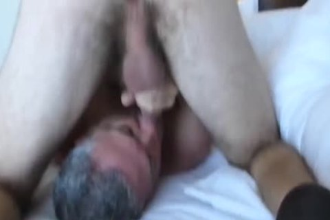 Bearded hairy three-WAY With A playgirl: RIM-CHAIN oral-69-BB-HJ-cum