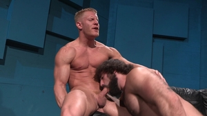 Raging Stallion: Athletic Johnny V anal fucking swallow