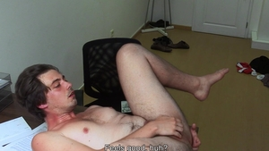 DirtyScout - Reality fingering accompanied by muscle amateur