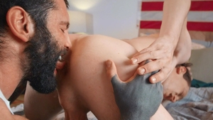 Str8ToGay - American Edward Terrant masturbation with dildo