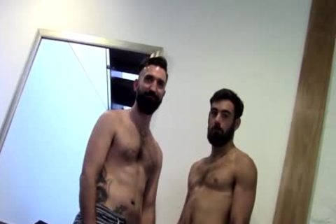Tattooed Bearded amateur butthole screwed By lover After butthole nailing
