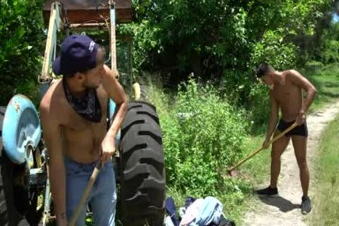 Naught Farmers Jay Seabrook & Tim Hanes acquire Sweaty Doing Some Outdoor Work