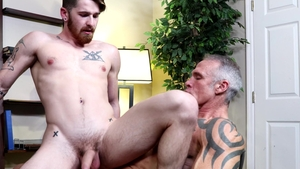FamilyCreep - Dallas Steele jerking Nick Milani monster cock